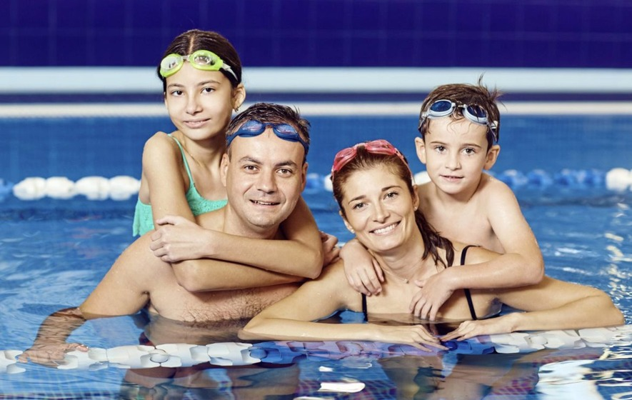 Family Swim. 1 Ticket Per Person Under 3 years free.